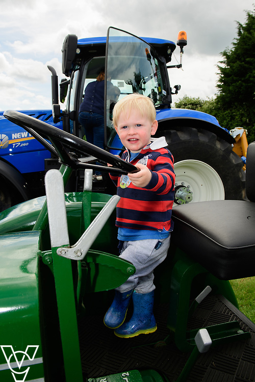 As part of Open Farm Sunday, May Park's Barr Farm in Billinghay, Lincolnshire, was open to the public.  Pictured is Euan Bradwell (one) on a tractor.<br /> <br /> PIcture: Chris Vaughan Photography<br /> Date: May 21, 2017