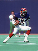 Buffalo Bills wide receiver Andre Reid (38) runs the ball during the NFL football game between the Buffalo Bills and the New York Jets on September 15, 1985 in East Rutherford, New Jersey. The Jets won the game 42-3. ©Paul Anthony Spinelli