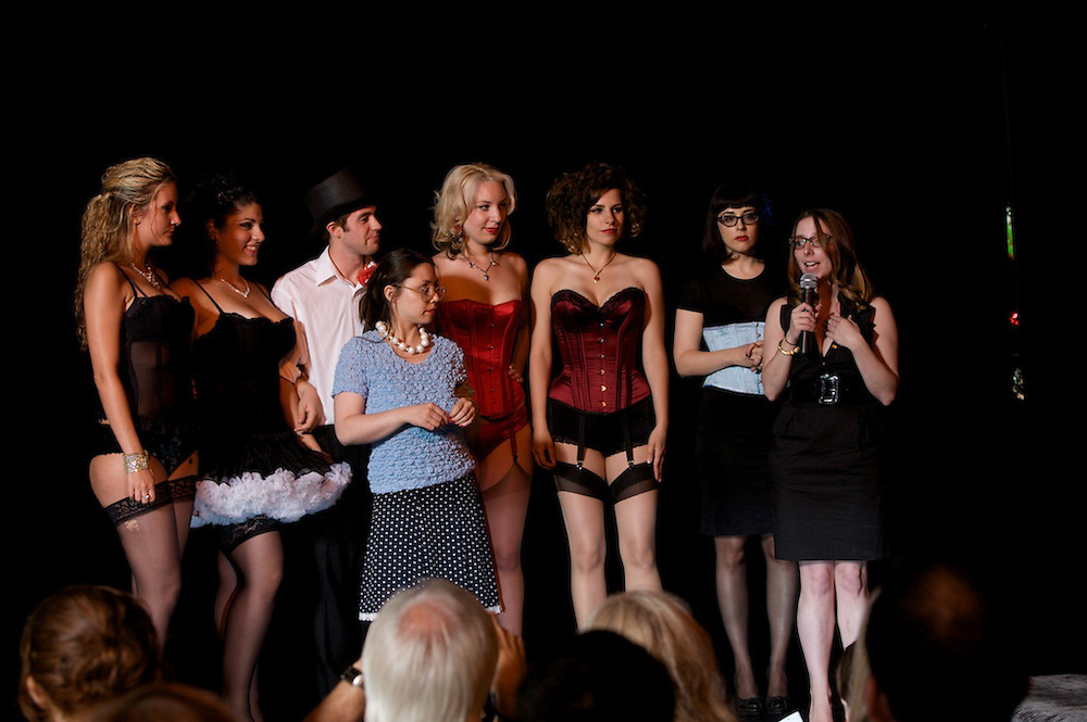 The Silk Stocking Review, a benefit performance to support the upcoming Montreal Burlesque Festival, unfolds at the Opus Hotel in Montreal, Canada on August 5th, 2009
