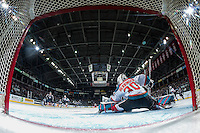KELOWNA, CANADA - MARCH 4: Michael Herringer #30 of the Kelowna Rockets makes a save against the Tri-City Americans on March 4, 2017 at Prospera Place in Kelowna, British Columbia, Canada.  (Photo by Marissa Baecker/Shoot the Breeze)  *** Local Caption ***