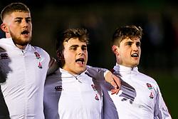 England U20 players sing the national anthem - Mandatory by-line: Robbie Stephenson/JMP - 07/02/2020 - RUGBY - Myreside - Edinburgh, Scotland - Scotland U20 v England U20 - Six Nations U20