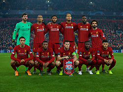 LIVERPOOL, Nov. 6, 2019  Liverpool's players line-up for a team group photograph before the UEFA Champions League Group E match soccer between Liverpool FC and KRC Genk at Anfield in Liverpool, Britain on Nov. 5, 2019.  FOR EDITORIAL USE ONLY. NOT FOR SALE FOR MARKETING OR ADVERTISING CAMPAIGNS. NO USE WITH UNAUTHORIZED AUDIO, VIDEO, DATA, FIXTURE LISTS, CLUB/LEAGUE LOGOS OR ''LIVE'' SERVICES. ONLINE IN-MATCH USE LIMITED TO 45 IMAGES, NO VIDEO EMULATION. NO USE IN BETTING, GAMES OR SINGLE CLUB/LEAGUE/PLAYER PUBLICATIONS. (Credit Image: © Han Yan/Xinhua via ZUMA Wire)