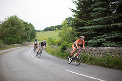 Chantal Blaak (NED) of Boels-Dolmans Cycling Team tackles a fast descent during the Aviva Women's Tour 2016 - Stage 3. A 109.6 km road race from Ashbourne to Chesterfield, UK on June 17th 2016.