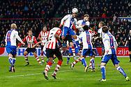 04-02-2016 VOETBAL:PSV-UTRECHT:BEKER:EINDHOVEN<br /> hectiek voor het doel van FC Utrecht<br /> <br /> Foto: Geert van Erven