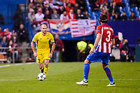 Atletico de Madrid's player Filipe Luis and CF Rostov's player Timofei Kalachev during a match of UEFA Champions League at Vicente Calderon Stadium in Madrid. November 01, Spain. 2016. (ALTERPHOTOS/BorjaB.Hojas)