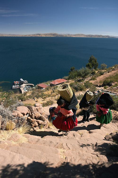 Taquile Island  Lake Titicaca  Peru