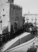 General Allenby, Jerusalem Palestine, 11 December 1917. Allenby and Borton Pasha at the Citadel. In World War I  Allenby commanded the Egyptian Expeditionary Force in Palestine and Syria.