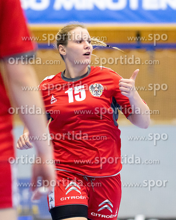 29.05.2016, BSFZ Südstadt, Maria Enzersdorf, AUT, ÖHB, Testspiel, Österreich vs Argentinien, im Bild Mirela Dedic (AUT)// during the women's friendly match between Austria and Argentina at the BSFZ Südstadt, Maria Enzersdorf, Austria on 2016/05/29, EXPA Pictures © 2016, PhotoCredit: EXPA/ Sebastian Pucher