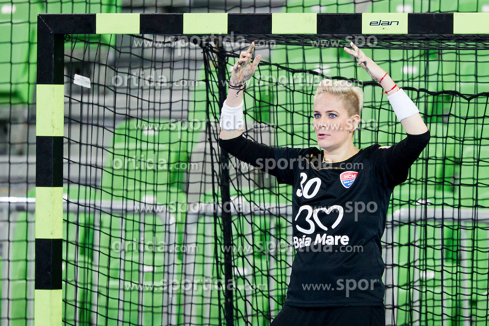 Paula Ungureanu of HCM Baia Mare during handball match between RK Krim Mercator (SLO) and HCM Baia Mare (ROM) in 1st Round of Women's EHF Champions League 2015/16, on October 16, 2015 in Arena Stozice, Ljubljana, Slovenia. Photo by Urban Urbanc / Sportida
