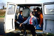 Guys in a Van, High Wycombe, UK, 1980s.