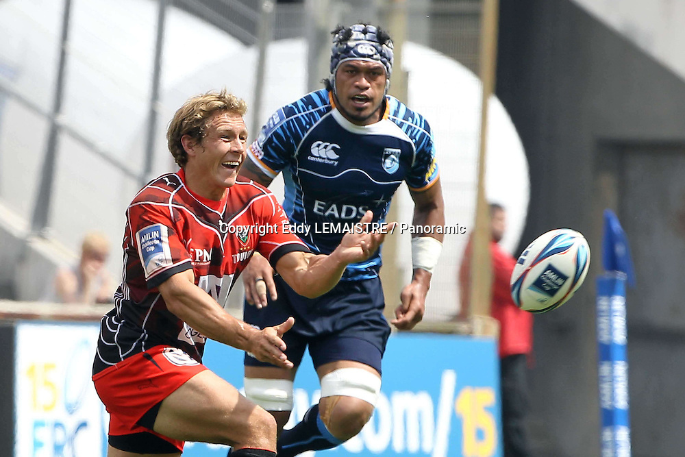 Rugby :   Finale Toulon - Cardiff Blues  - Jonnhy Wilkinson  (RCT) et Casey Laulala (CB) - Amlin Challenge Cup  - Stade Velodrome - Marseille - 23-05-10
