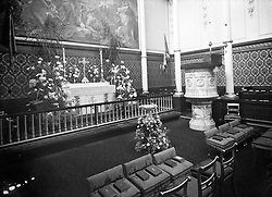 A view of the private Royal Chapel at Buckingham Palace.
