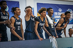 Cazalon  Malcolm of France celebrates during basketball match between National teams of Slovenia and France in the Group Phase C of FIBA U18 European Championship 2019, on July 27, 2019 in Nea Ionia Hall, Volos, Greece. Photo by Vid Ponikvar / Sportida