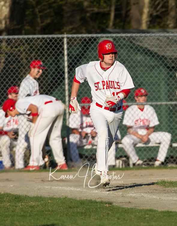St Paul's School baseball with Rivers May 1, 2013.  Karen Bobotas Photographer