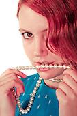2012 Vintage Pearls Pin Up - Jessie James Hollywood