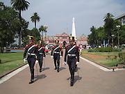 Changing of the Guard at the Casa Rosada on the Plaza de Mayo in Buenos Aires, Argentina. Impressive history!