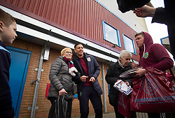 Dwight McNeil of Burnley (C) takes photos with fans before the match - Mandatory by-line: Jack Phillips/JMP - 13/04/2019 - FOOTBALL - Turf Moor - Burnley, England - Burnley v Cardiff City - English Premier League
