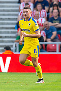 Anthony Hartigan (#8) of AFC Wimbledon during the EFL Sky Bet League 1 match between Sunderland and AFC Wimbledon at the Stadium Of Light, Sunderland, England on 24 August 2019.
