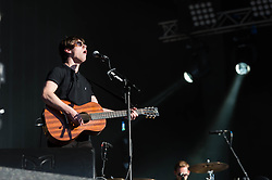 © Licensed to London News Pictures. 03/07/2014. London, UK.   Jake Bugg performing live at Hyde Park, supporting headliner Arcade Fire as part of the Barclaycard British Summer Time series of music events held at Hyde Park this summer.  Photo credit : Richard Isaac/LNP