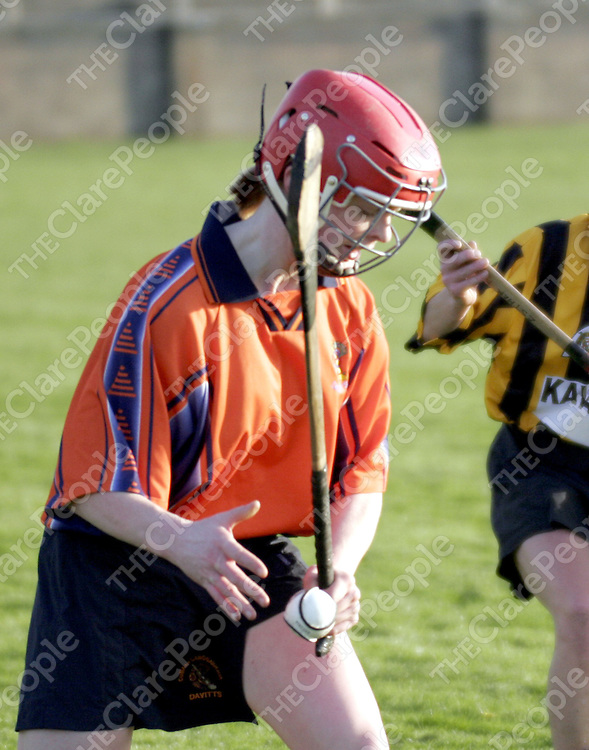 Clare's Deirdre Murphy in action for Galway club Davitts during the Senior Clubs Final in Cloghjordon on Sunday.<br />