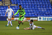 Forest Green Rovers Curtis Tilt(2) on the ball during the Vanarama National League match between Tranmere Rovers and Forest Green Rovers at Prenton Park, Birkenhead, England on 11 April 2017. Photo by Shane Healey.