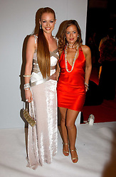 Left to right, CAT DEELEY and  JADE JAGGER at the Moet & Chandon Fashion Tribute 2005 to Matthew Williamson, held at Old Billingsgate, City of London on 16th February 2005.<br />