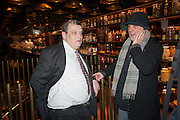 NORMAN ROSENTHAL; RON ARAD, Liberatum Cultural Honour  for John Hurt, CBE in association with artist Svetlana K-Lié.  Spice Market, W London - Leicester Square