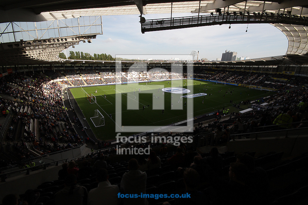 Picture by Richard Gould/Focus Images Ltd +44 7855 403186<br /> 28/09/2013<br /> General views of the KC Stadium from the main stand during the Barclays Premier League match at the KC Stadium, Kingston upon Hull.