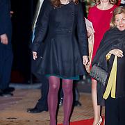 NLD/Utrecht/20130201 - Vertrek 75ste verjaardagfeest  Koninging Beatrix, Aimee Söhngen
