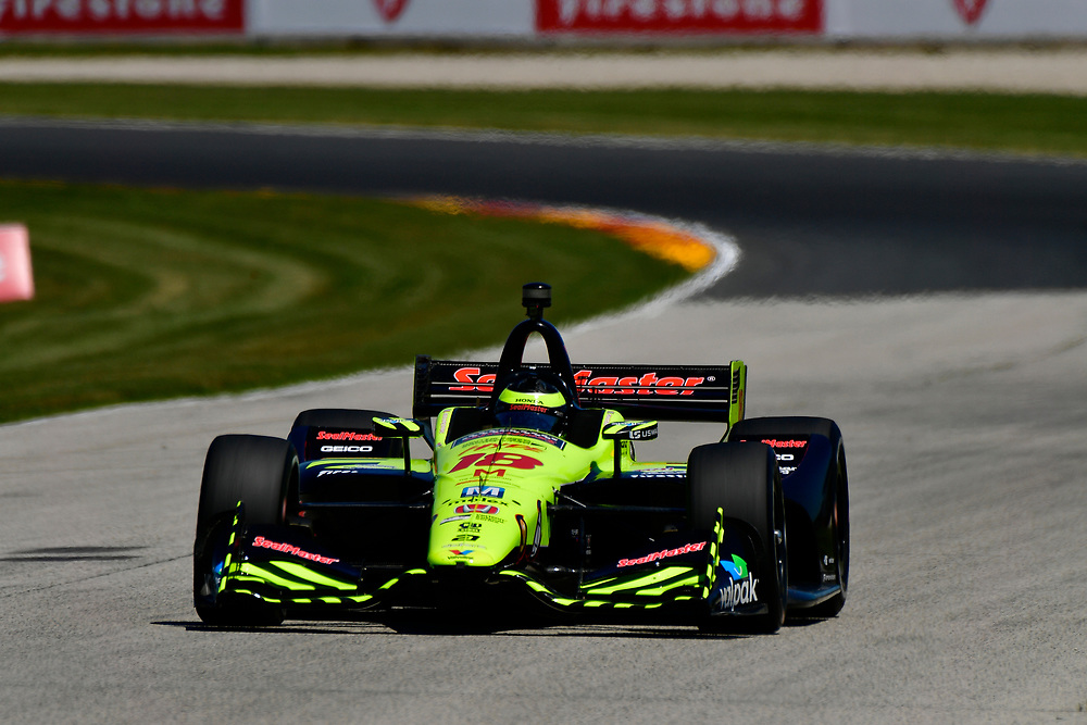 S&eacute;bastien Bourdais, Dale Coyne Racing with Vasser-Sullivan Honda<br /> Saturday 23 June 2018<br /> KOHLER Grand Prix at Road America<br /> Verizon IndyCar Series<br /> Road America WI USA<br /> World Copyright: Scott R LePage