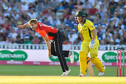 David Willey of England bowling during the International T20 match between England and Australia at Edgbaston, Birmingham, United Kingdom on 27 June 2018. Picture by Graham Hunt.