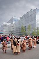 Athabascan perfomers dance at the opening celebration of the Anchorage Museum at Rasmuson Center, Anchorage, AK, May 29, 2009