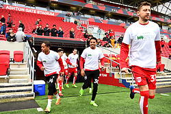 Bristol City players run out to warm-up wearing shirts supporting Children's Hospice South West - Mandatory by-line: Paul Knight/JMP - 04/03/2017 - FOOTBALL - Ashton Gate - Bristol, England - Bristol City v Burton Albion - Sky Bet Championship