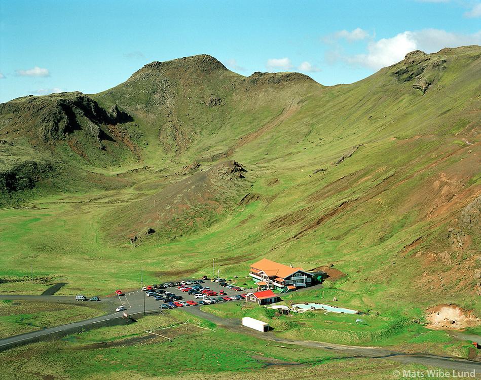 """Skíðaskálinn, Hveradalir, Ölfushreppur / .Skihut """"Skidaskalinn"""" in Hveradalir, Ölfushreppur..#.Nýtt nafn:  Sveitarfélagið Ölfus  /  New name of the municipality: Sveitarfelagid Olfus."""