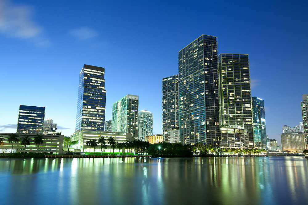 Downtown and Brickell district, Miami, Florida, USA