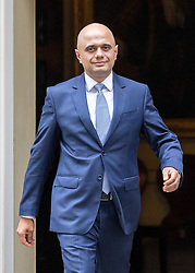 © Licensed to London News Pictures. 21/02/2017. London, UK. Communities and Local Government Secretary Sajid Javid leaving Number 10 Downing Street after attending a Cabinet meeting this morning. Photo credit : Tom Nicholson/LNP