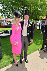 CHARLES & AGNIESZKA BUTTER at the 1st day of the Royal Ascot Racing Festival 2015 at Ascot Racecourse, Ascot, Berkshire on 16th June 2015.