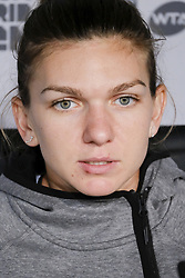 May 9, 2018 - Madrid, Spain - Simona Halep press conference during day five of the Mutua Madrid Open tennis tournament at the Caja Magica on May 9, 2018 in Madrid, Spain  (Credit Image: © Oscar Gonzalez/NurPhoto via ZUMA Press)