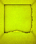 Yellow styrofoam abstraction