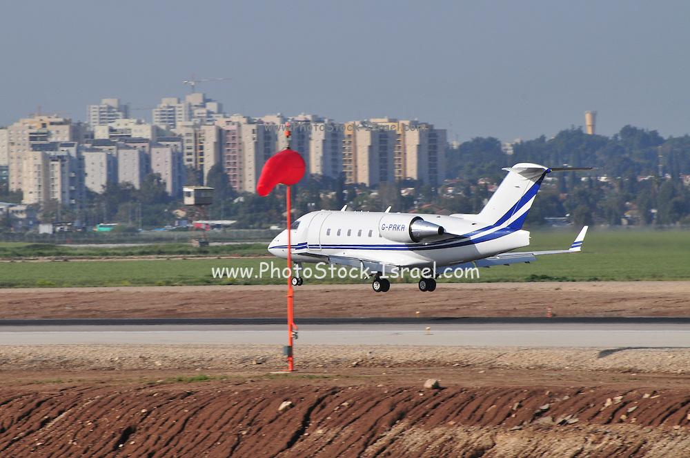 Israel, Ben-Gurion international Airport Private Jet landing
