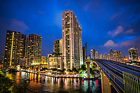 Metromover Riverwalk Station (Blue Hour)
