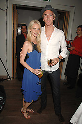 POPPY DELEVIGNE and JAMES COOK at a party to celebrate the launch of the Boodles Wonderland jewellery collection held at the Haymarket Hotel, 1 Suffolk Place, London on 9th June 2008.<br />