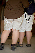 back view of two obese girls