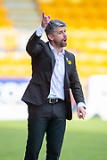 Motherwell manager Stephen Robinson during the Ladbrokes Scottish Premiership match between St Johnstone and Motherwell at McDiarmid Stadium, Perth, Scotland on 11 May 2019.