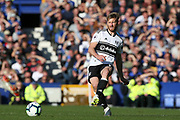 Fulham defender Tim Ream (13) Fulham striker Andre Schurrle (14) during the Premier League match between Everton and Fulham at Goodison Park, Liverpool, England on 29 September 2018.
