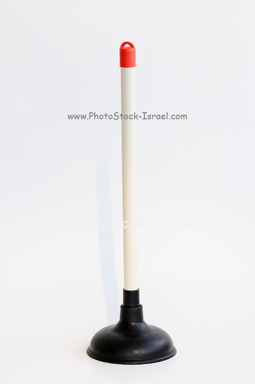 Cut of a plunger (plumber's helper or plumber's friend) on white background