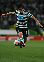 20120329: LISBON, PORTUGAL - Football - UEFA Europe League 2011/2012 - Quarter-finals, First leg: Sporting CP vs Metalist<br />In picture: Sporting's Matias Fernandez, from Chile, controls the ball.<br />PHOTO: Alvaro Isidoro/CITYFILES