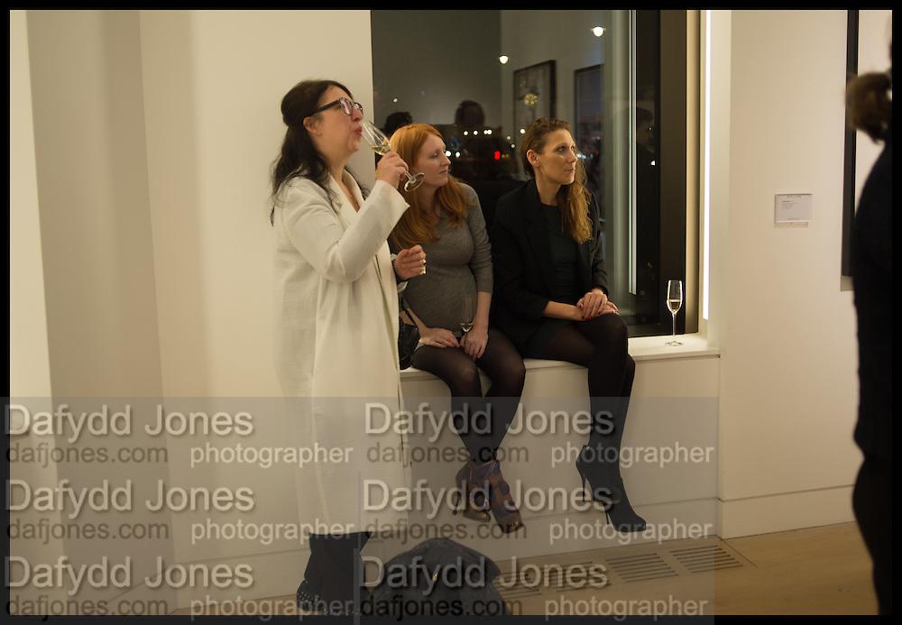ANNE BERNECKER; SARAH SHOTTON; GINTA GELVAN; , Steven Meisel: Role Play - private view Phillips,, Berkeley Sq. London. 16 December 2014.