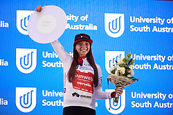 Liane Lippert (GER) earns the best young rider jersey after Stage 4 of 2020 Santos Women's Tour Down Under, a 42.5 km road race in Adelaide, Australia on January 19, 2020. Photo by Sean Robinson/velofocus.com