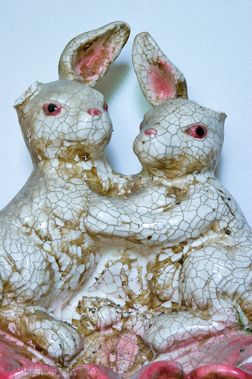 May 24, 2007, Rabbit figurine found in a home destroyed by Hurricane Katrina in New Orleans.
